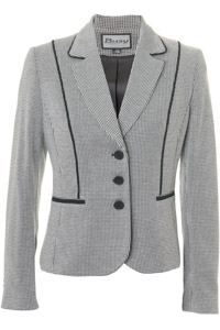 Click to see:Black White Dogtooth Jacket Style: 44483