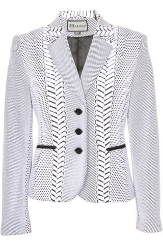 Click for larger image of: Black & White with Patterns  Jacket Style: 44480