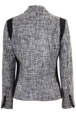 Mouseover to see larger image of: Black and White Boucle Jacket Style: 44460