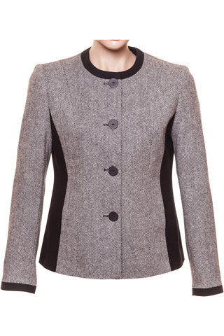 Click for larger image of: Grey & Black Tweed Jacket Style: 44456