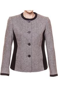 Click to see:Grey & Black Tweed Jacket Style: 44456