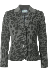 Click to see:Grey and Black Animal Print Jacket Style: 44490