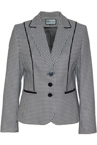 Click to see:Black White Houndstooth Jacket Style: 44483