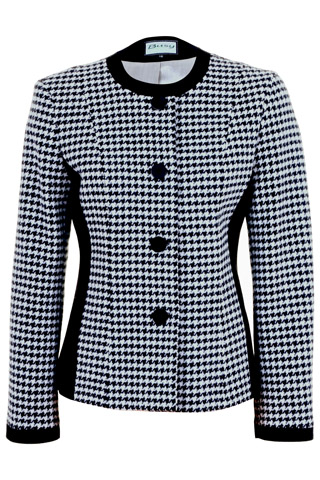 Click for larger image of: Black and White Jacket Style: 44456
