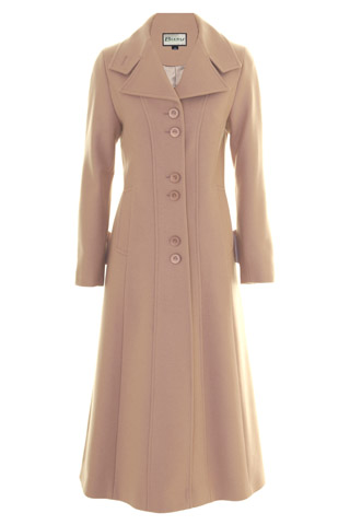 Click for larger image of: Pink Beige Long Coat Style: 44441