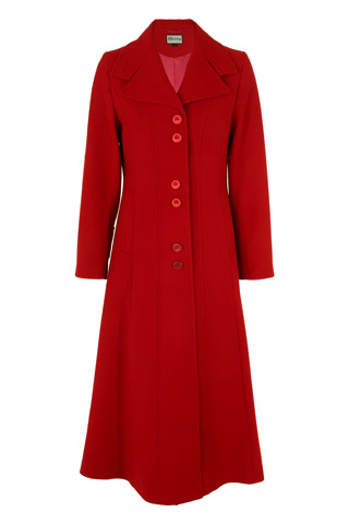 Click for larger image of: Red Long Coat Style: 44441