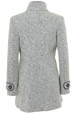 Mouseover to see larger image of: White & Black Tweed Coat Style: 44452