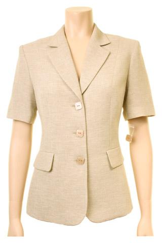 Click for larger image of: Beige Short Sleeve Jacket Style: 44411