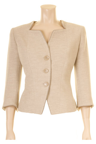 Click for larger image of: Beige 3/4 Sleeve Jacket Style: 44445