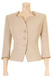 Click to see:Beige 3/4 Sleeve Jacket Style: 44445