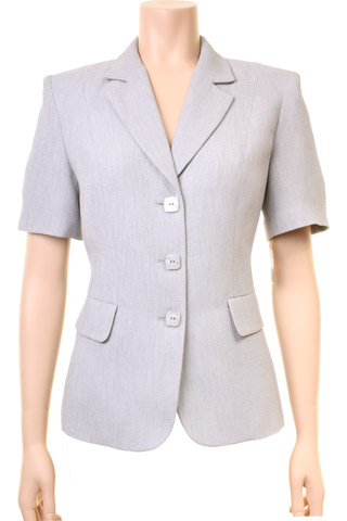 Click for larger image of: Grey Short Sleeve Jacket Style: 44411