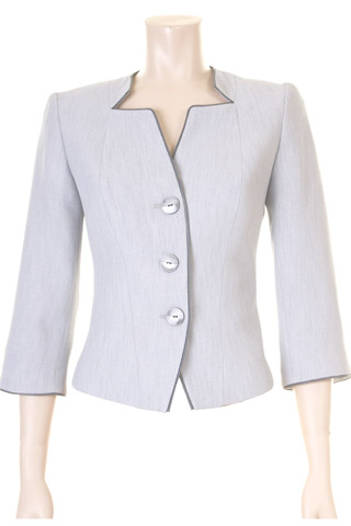 Click for larger image of: Grey 3/4 Sleeve Jacket Style: 44445