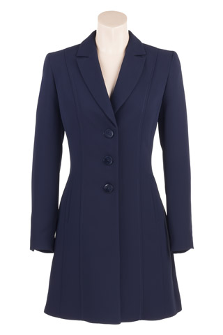 Click for larger image of: Navy Long Jacket Style: 44380