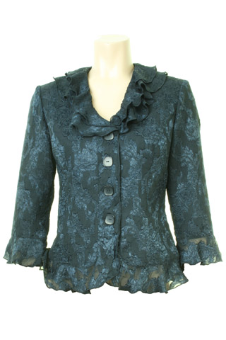 Click for larger image of: Navy Lace Jacket Style: 44407