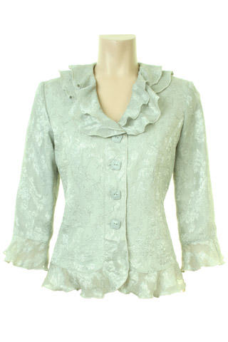 Click for larger image of: Pale Green Lace Jacket Style: 44407