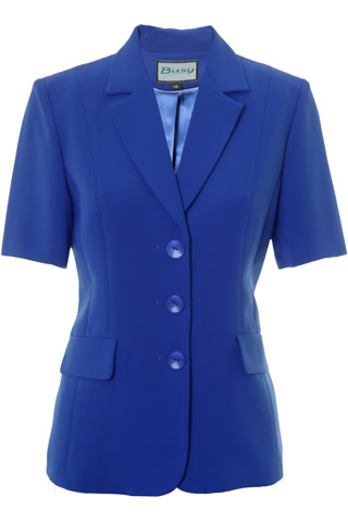 Click for larger image of: Royal Blue Short Sleeve Jacket Style: 44477