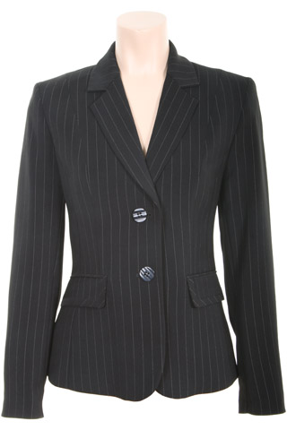 Click for larger image of: Stripe Black Jacket Style: 44385