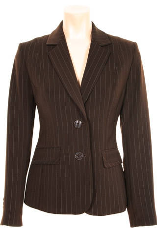 Click for larger image of: Stripe Brown Jacket Style: 44385