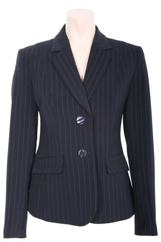 Click for larger image of: Stripe Navy Jacket Style: 44385