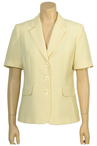 Click for larger image of: Lemon Yellow Short Sleeve Jacket Style: 44382