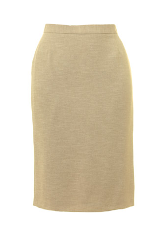 Click for larger image of: Beige Pencil Skirt Style: 44414