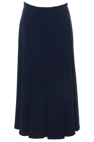 Click for larger image of: Navy Flared Skirt Style: 44459