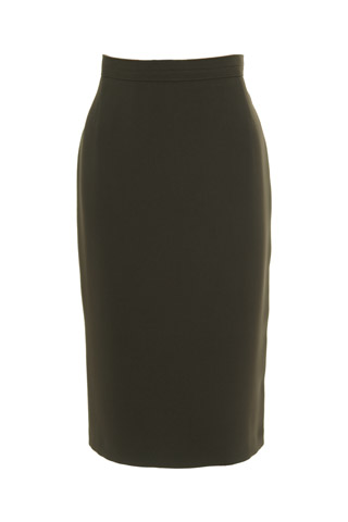 Click for larger image of: Olive Green Pencil Skirt Style: 44350