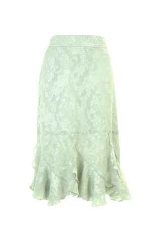 Click for larger image of: Pale Green Lace Skirt Style: 44406