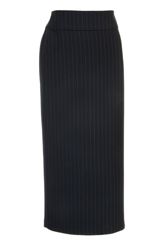 Click for larger image of: Stripe Black Long Skirt Style: 44444