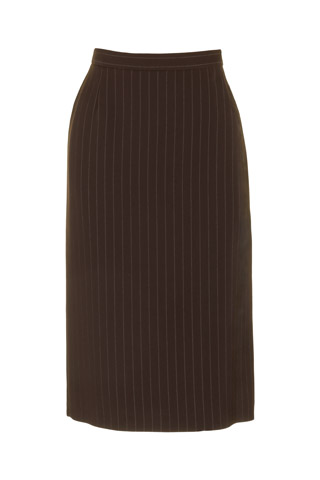 Click for larger image of: Stripe Brown Pencil Skirt Style: 44387