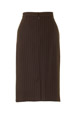 Mouseover to see larger image of: Stripe Brown Pencil Skirt Style: 44387