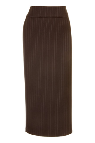 Click for larger image of: Stripe Brown Long Skirt Style: 44444