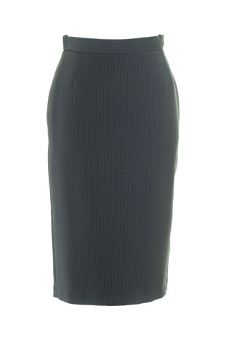 Click for larger image of: Stripe Grey Pencil Skirt Style: 44387