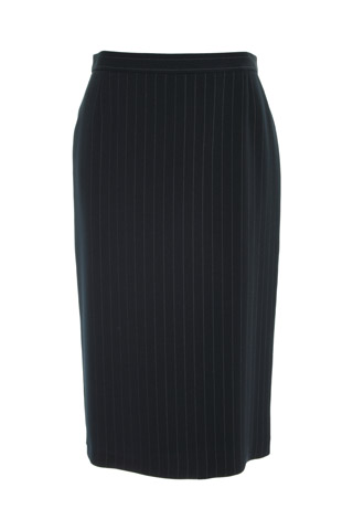 Click for larger image of: Stripe Navy Pencil Skirt Style: 44387