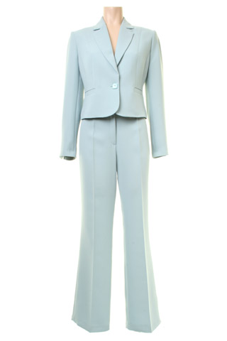 Click for larger image of: Aqua Blue Trouser Suit Style: 44410 / 44340