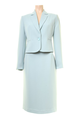 Click for larger image of: Aqua Blue Skirt Suit Style: 44410 / 44350