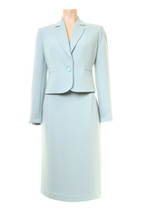 Click to see:Aqua Blue Skirt Suit Style: 44410 / 44350