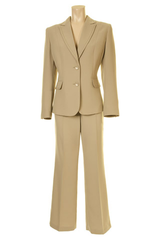 Click for larger image of: Beige Trouser Suit Style: 44363 / 44340
