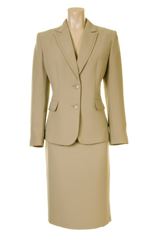 Click for larger image of: Beige Skirt Suit Style: 44363 / 44350