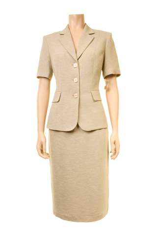 Click for larger image of: Beige Skirt Suit Style: 44411 / 44414