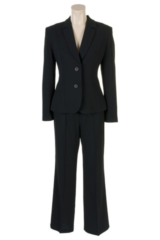 Click for larger image of: Black Dots Trouser Suit Style: 44429 / 44431