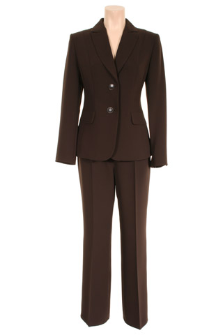 Click for larger image of: Brown Trouser Suit Style: 44363 / 44340