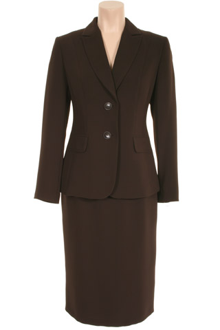 Click for larger image of: Brown Skirt Suit Style: 44363 / 44350