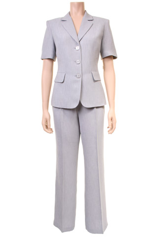 Click for larger image of: Grey Trouser Suit Style: 44411 / 44412