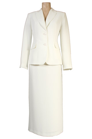 Click for larger image of: Light Cream Skirt Suit Style: 44363 / 44330