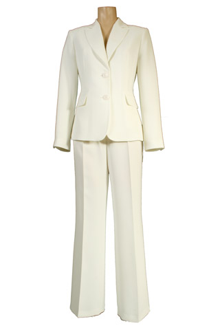 Click for larger image of: Light Cream Trouser Suit Style: 44363 / 44340