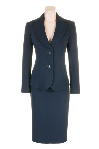 Click for larger image of: Navy Skirt Suit Style: 44427 / 44414