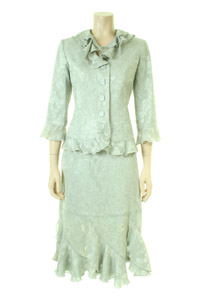Click to see:Pale Green Skirt Suit Style: 44407 / 44406