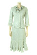 Mouseover to see larger image of: Pale Green Lace Jacket Style: 44407