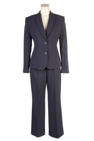 Click for larger image of: Dark Purple Dots Trouser Suit Style: 44429 / 44431